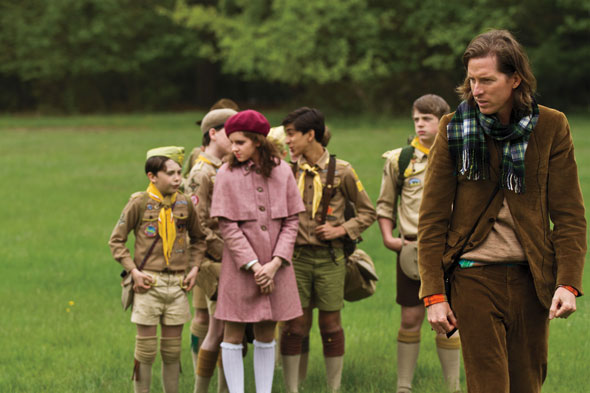 Wes Anderson with the cast of Moonrise Kingdom (2012)